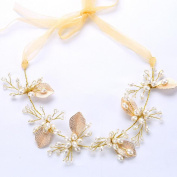Missgrace Crystal Bridal Leaf Headband Wedding Hairpiece Hair Accessories -Women Evening Party Flower Crown