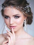 Bridalvenus Wedding Silver Headband Bridal Halo Wreath Bohemian Hairpieces