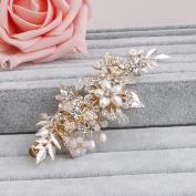 Ammei Fresh Water Headpiece Bridal Hair Clip Comb Flower Design Elegant For Wedding
