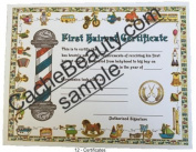 Kids First Haircut Certificates
