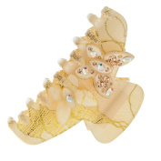Szxc Jewellery Women's Crystal Butterfly Hair Claw Barrette Clips Accessories
