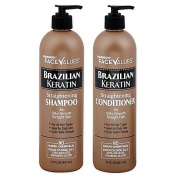 Harmon Face Values Brazilian Keratin Straightening shampoo(620ml) & conditioner