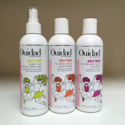 Ouidad KRLY KIDS No Time for Tears Shampoo & No More Knots Conditioner & Pump N Go Styling Spray Gel 250ml TRIO SET