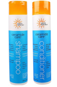 Earth Science Ceramide Care Volumizing Shampoo and Conditioner Bundle With Lavender Extract and Chamomile, 300ml Each
