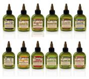 Difeel Premium Natural Hair Oil Collection - Complete 12 Piece Set