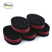 HALLO Big Holes Hair Twist Sponge Brush for Dreads Locking Coil Afro Curl for Hair Styling