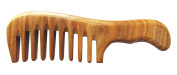 Meta-C Portable Comb – Made From One Whole Piece Of Natural Green Sandal Wood – Wave Handle