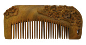 Meta-C Portable Comb – Made From One Whole Piece Of Natural Green Sandal Wood – Carved With Plum Blossom