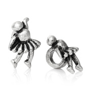 SEXY SPARKLES Women's Dancing Girl Charm Bead Spacer Compatible For Most Snake Chain Bracelets