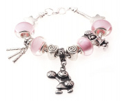 'Cheerleader' Cheerleading Dance Sport Themed Childrens Charm Bracelet with Gift Box Girls Jewellery