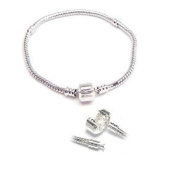 SEXY SPARKLES Women's 19cm Snake Chain Charm For Charm