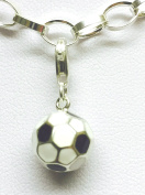 Sterling Silver Football Clip on Charm