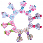 CHIC-CHIC 20pcs Kids Baby Girls Hair Clips Bow-knot Ribbon Alligator Clip Hair Pins Hair Accessories Photography