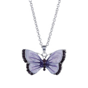 Fasherati Multicoloured Butterfly Pendant necklace for girls