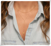 Y Layered Gold Necklace