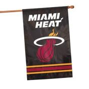 Party Animal NBA Sports Team Logo Miami Heat Applique Banner Flag 110cm x 70cm