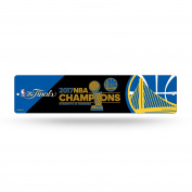 NBA Golden State Warriors 2017 Basketball Champions High-Res Plastic Street Sign, 21cm by 28cm , Royal Blue, Gold