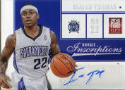 Isaiah Thomas Autographed 2013 Panini Rookie Inscriptions Card