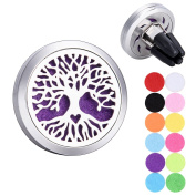 Tree of Life Aromatherapy Essential Oils Car Diffuser Stainless Steel Locket