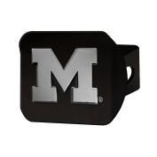 FANMATS 21038 Michigan Black Hitch Cover , Team Colour, 8.6cm x 10cm