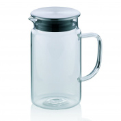 "Kela ""pitcher"" Juice Jug, Stainless Steel, Transparent/wh"