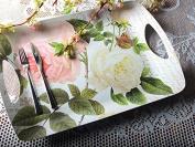 Creative Tops Rose Garden Large Luxury Melamine Serving Tray, Multi-colour