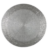 Silver Bead Placemat Party Table Ware Xmas Wedding Decor Dinner Round Mat Plate