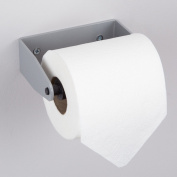 Hafele Wall Mounted Plastic Toilet Roll Holder - Matt Silver & Black - 125mm