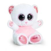 15cm Animotsu Pink & White Bear - Keel Toys Beanie Cuddly Soft Plush Sf0958