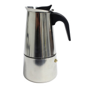 Kurtzytm 6 Cup Stainless Steel Espresso Coffee Cup Maker Italian Style Stove Top