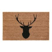 Heavy Duty 60 X 40cm Pvc Backed Non Slip Deer Coir Doormat Door Dirt Floor Mat