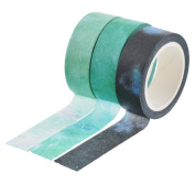 Souarts Green Blue Colour Paper Masking Adhesive Tape for Scrapbooking DIY Craft 1 Set 8m