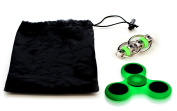 Stress Relief Sensory Fidget Toys For Adults & Kids - Glow In The Dark Tri-Spinner & Flippy Chain Toy With Free Carrying Bag - For Fidgeters, Anxiety, Focus, ADHD, Autism #1 Therapist Recommended!