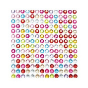 ARTS & CRAFTS RHINESTONE STICKERS ASSORTED - 504 PC EACH - 3 PACKS