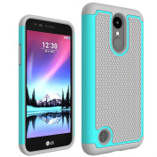 LG Phoenix 3 Case, LG Fortune Case,ARSUE [Drop Protection] [Shock Absorption] Hybrid Dual Layer Armour Defender Protective Case Cover for LG Risio 2 Case / LG K4 2017 - Mint