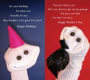 Quiplip Sock Em's Birthday + Mother's Day (6 Cards) Greeting