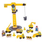 Bigjigs Rail Wooden Big Crane Construction Set