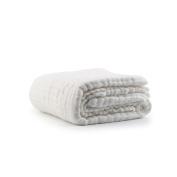 "Huluwa Baby Bath Towel 100% Organic Cotton Baby Blanket, Super Soft Newborn Baby Washcloth, Dye Free, White, 43""43"""