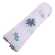 Fang sky Muslin Cotton Newborn Swaddle Baby Soft Blanket Parisarc Wrap Towel Double Layer