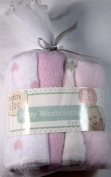Babykiss Super Soft Baby Washcloths 24 Pk. Assorted Patterns Pink/White