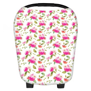 Multi-Use Stretchy Newborn Infant Baby Floral Car Seat Cart Nursing Cover