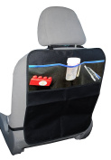 Kick Mat Protector (Single) for Car Seats with Organiser Pockets By KoolAcc | Best for Protection of Seat Back From Damage | Extra Large Fits Most Vehicles | Free 100% No Hassle Guarantee| Ideal Gift