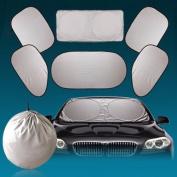 6pcs Car Windshield Sun Shade, Northbear Car Window Sun Shade Foldable Windshield Full Shield Visor Block Cover