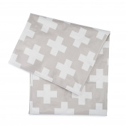 Splat Mat by Honeyed- Crosses- Modern Design Large Non-toxic High Chair Floor Splash Mat