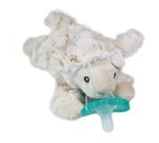 RaZbaby Buddy JollyPop Pacifier Holder, Lamb