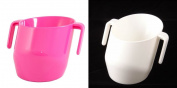 Doidy Cup - CERISE & WHITE - Solid Colour - 2 ITEMS