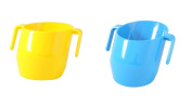 Doidy Cup Bundle - Yellow & Blue - SOLID COLOUR