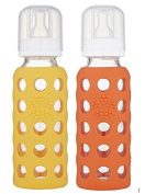 Lifefactory Mango & Papaya 270ml Baby Bottles 2pk