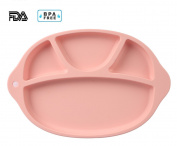 Jonhen Baby Highchair Placemat & Silicone Divided Plate 4 Sections - Lovely Kids Feeding Bowel BPA FREE