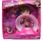 Dora the Explorer 3 Piece Dining Set by Zak ~ Plate, Bowl, Cup